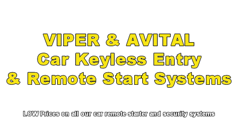 VIPER & AVITAL Car Keyless Entry & Remote Starting