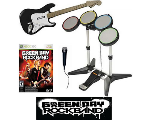 Green day rock band bundle band set game kit xbox 360 very good item picture loading publicscrutiny Gallery