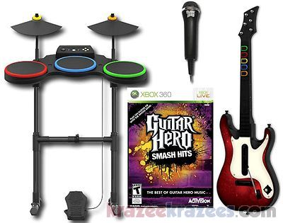 Guitar hero smash hits xbox 360 game bundle w guitar drums item picture loading publicscrutiny Gallery