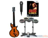 Picture of ACDC Live Rock Band Track Pack Wii Bundle w/ Pega Guitar & RB2 Drums