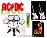 Picture of ACDC Live Rock Band Nintendo Wii Bundle w/ 2 Guitars Drums Microphone