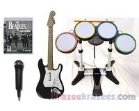The Beatles Rock Band PS3 Game Bundle w/ Guitar Drums Microphone