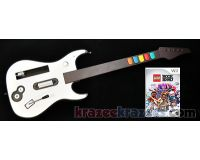 Picture of Lego Rock Band Nintendo Wii Guitar Bundle w/ Aftermarket Guitar