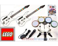 Picture of Lego Rock Band Nintendo Wii Bundle Kit w/ 2 Guitars Drums Microphone