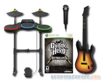 Picture of Guitar Hero Metallica Bundle Set for Xbox 360 Band Kit