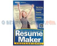 Picture of Resume Maker Professional 14 Software PC Individual - NEW