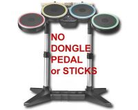 Picture of Wii ROCK BAND 2 Wireless Drums NO DONGLE RECEIVER