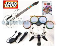 Picture of Lego Rock Band Game Bundle w/ Instruments for Nintendo Wii