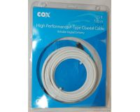 Picture of Cox High Performance F-Type Coaxial 25' Cable White RF-CX-25