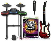 Picture of Guitar Hero Smash Hits Xbox 360 Game Bundle w/ Guitar Drums Microphone