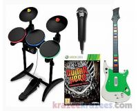 Picture of XBox 360 Guitar Hero WARRIORS OF ROCK Game Bundle Set w/ drums mic super WOW