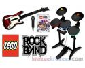 Picture of Lego Rock Band Wii Game Set Bundle w/ WOR Guitar & Drum Kit