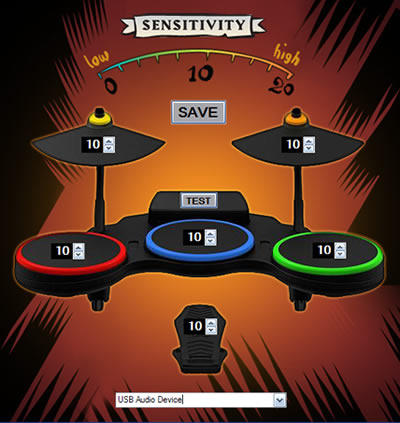 Guitar Hero Drum Tuning Kit Screenshot