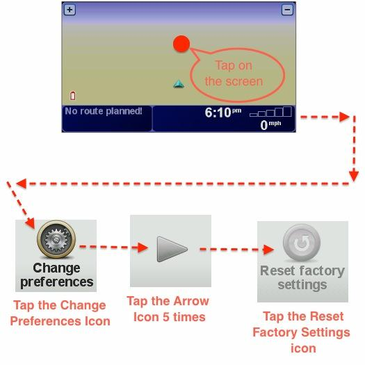 TomTom XL 330 & 340 Reset Factory Settings
